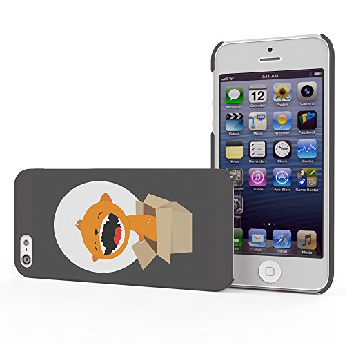 Koveru Back Cover Case for Apple iPhone 5S - Cub in a box on a full moon day