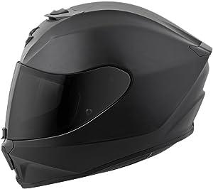 Scorpion EXO-R420 Full-Face Solid Street Bike Motorcycle Helmet - Matte Black/Medium