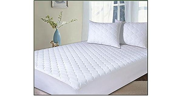 NH ropa de cama kimberling suave y plumas de ganso blanco abajo colchón/cama de plumas. 100% CRISP algodón antiácaros grueso TOPPER - tamaño KING: ...