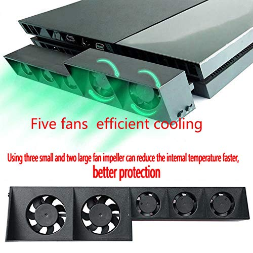 XuBa for PS4 5-Fan Playstation General Cooling External Turbo Temperature Auxiliary Control Cooler - Turbo Auxiliary Fan