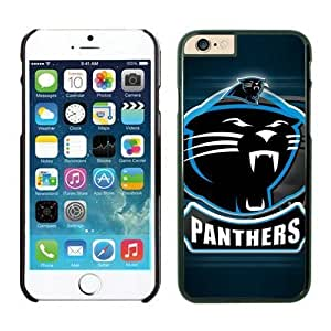 NFL iPhone 6 Plus 5.5 Inches Case Carolina Panthers Black iPhone 6 Plus Cell Phone Case ONXTWKHB0612