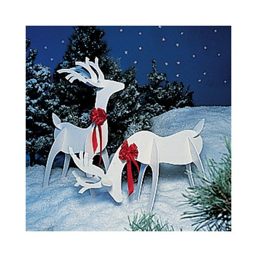 a full size woodworking pattern and instructions to build a holiday reindeer yard art project woodworking project plans amazoncom - Christmas Deer Yard Decorations