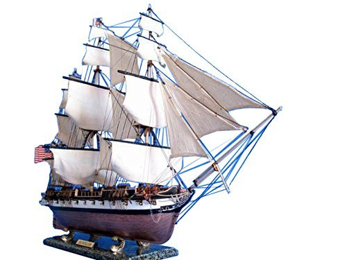 Uss Constellation Limited 37 - Wooden Tall Ship Model - US Navy Vessel - Nautical Dcor - Model Tall Ship - Sold Fully Assembled - Not a Model Ship Kit by Handcrafted Model Ships - Uss Constellation Model Ship