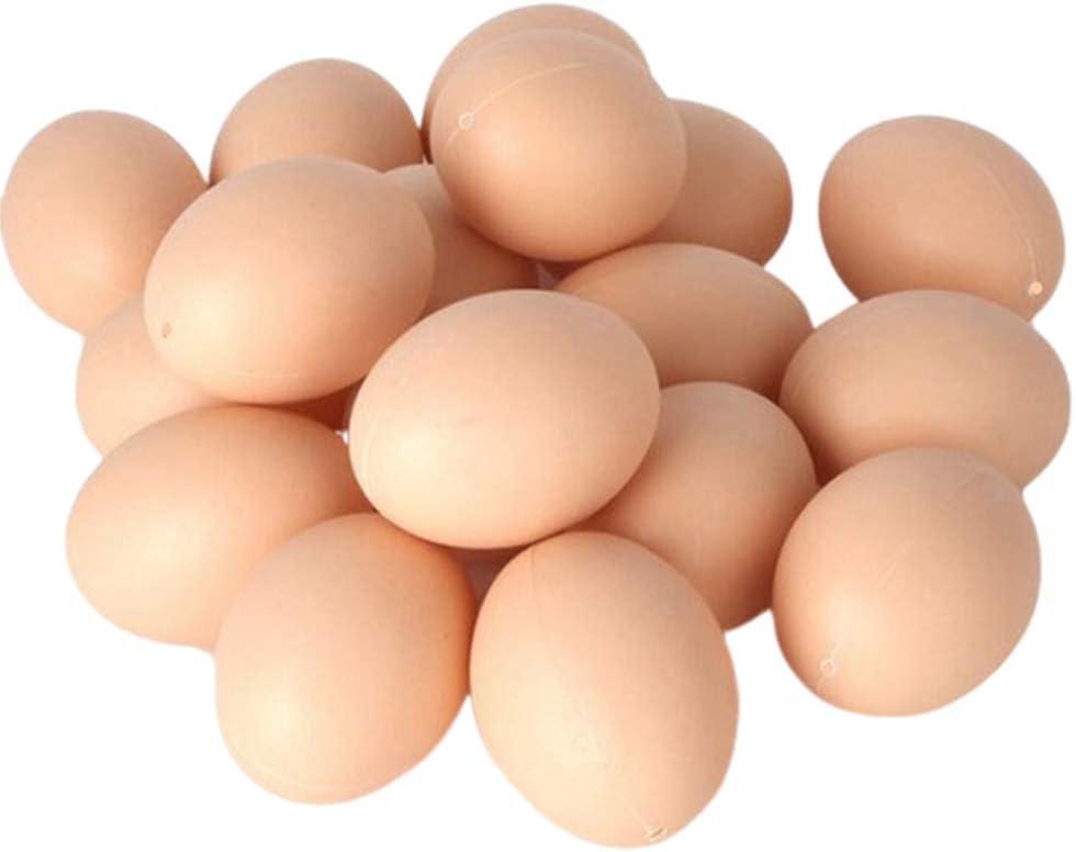 NUOBESTY Pollo Falso Huevos Huevo Realista Juguete Juguete Comida para niños - Pretenda Jugar Juego Comida - Faux Huevos Juguete, 30pcs