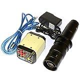 2.0MP HD VGA CVBS TV USB Industry Video Microscope Camera 180X C-mount Glass Lens