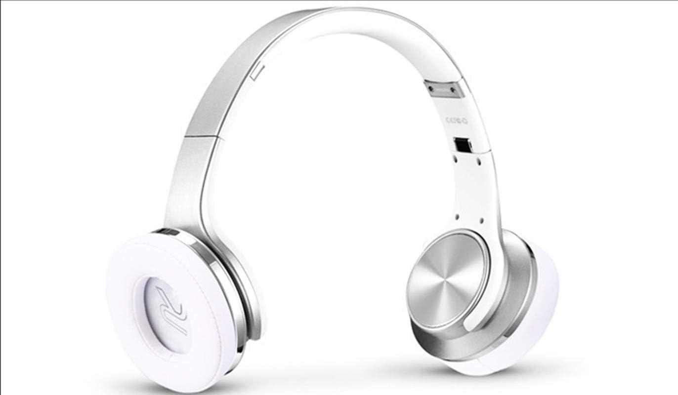 Amazon Com Headphones Subwoofer With External Headphones Folding Type Bluetooth Headset Creative Headphones Wireless High End Headphones White