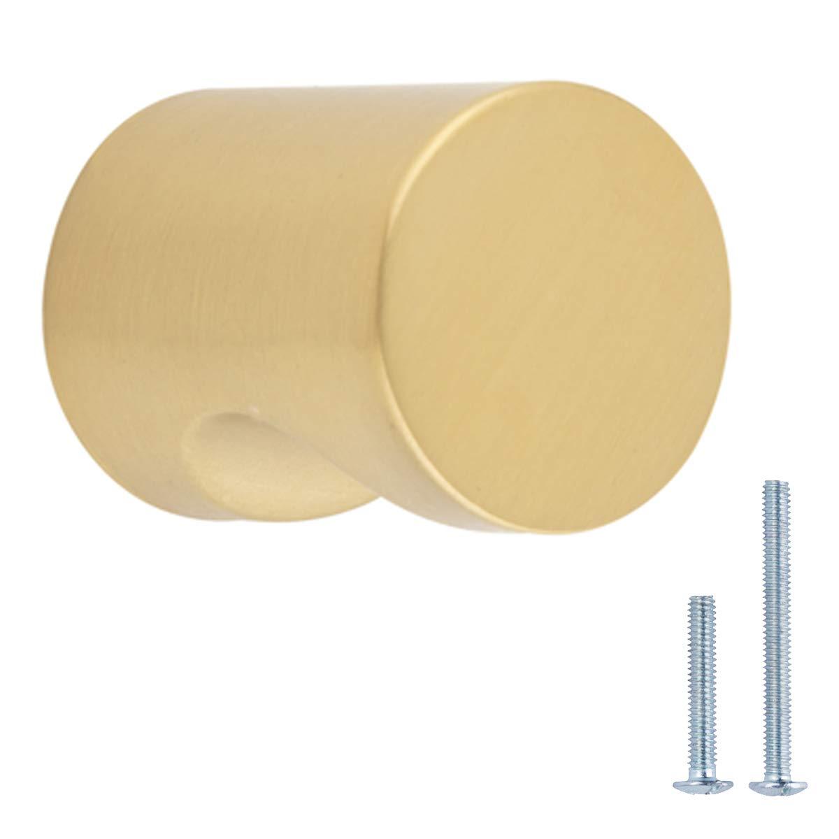 AmazonBasics Whistle Cabinet Knob, 0.75'' Diameter, Golden Champagne, 25-Pack