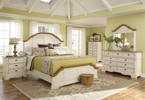 Coaster Home Furnishings Country Dresser, Oak and Buttermilk - Autumn Oak Finish Mirror