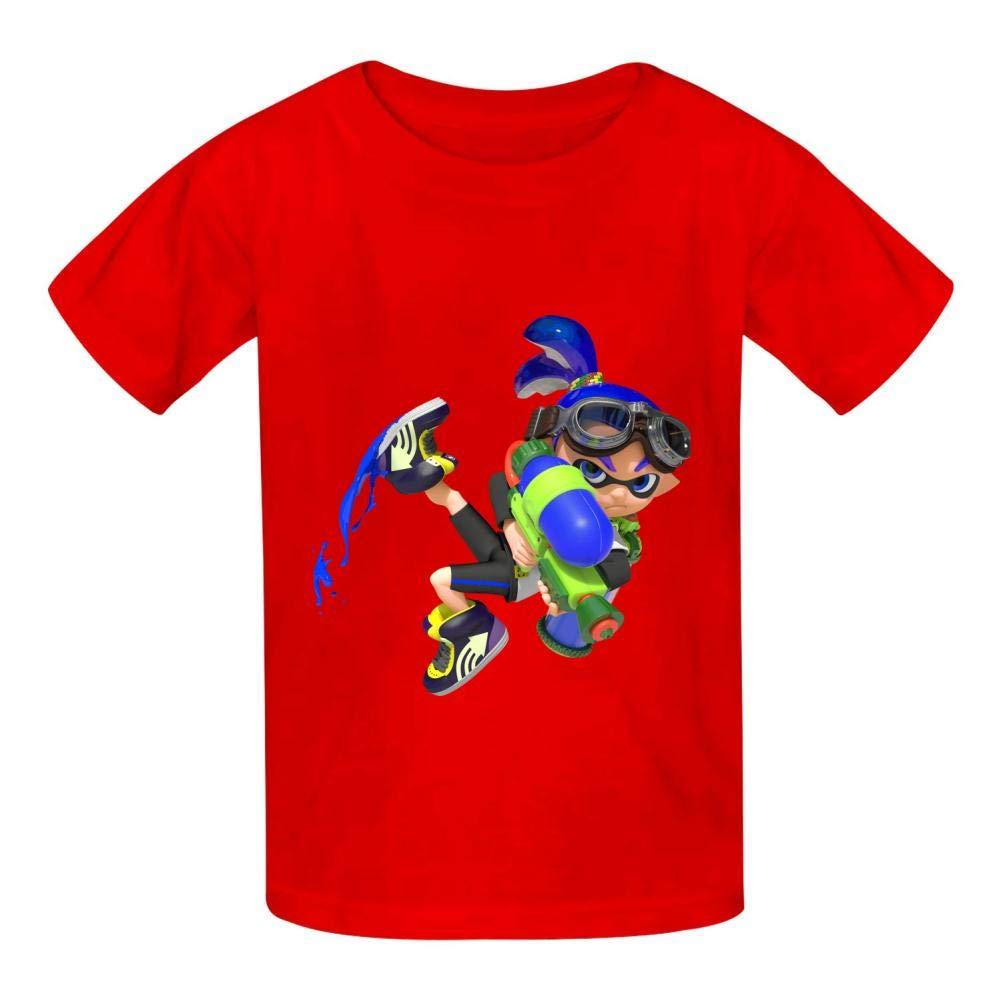 HOOPNUA Youth Splatoon Logo Cotton T-Shirt Fashion 3D Printed ComfortSoft Graphic Crew Neck Short Sleeve Tee Polo Shirt