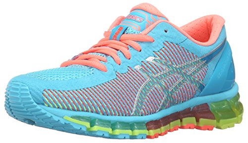 Asics Women's Gel-Quantum 360 cm Running Shoe, Black, Medium Aquarium/White/Flash Coral