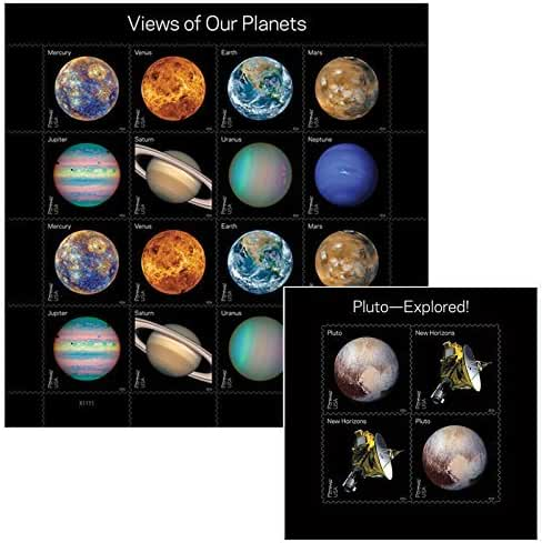USPS Forever Postage Stamp Combo Views of Our Planets + Pluto-Explored! (20 Total Stamps) by USPS