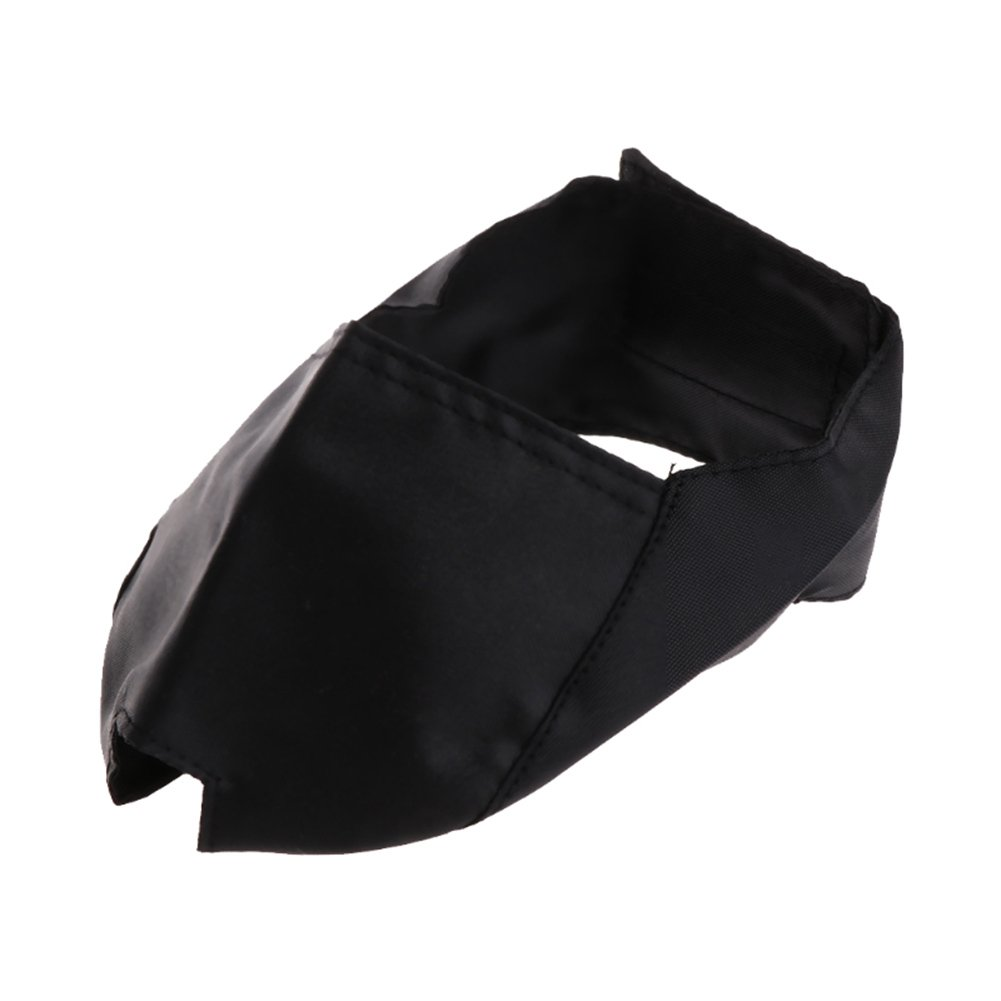 ZeHui Creative Cat Adjustable Black Blindfold Muzzle Pet Supplies