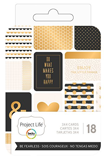 Project Life Themed Cards 3 X4  18 Pkg Be Fearless