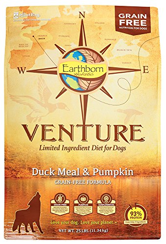 Earthborn Holistic Venture Duck Meal And Pumpkin Limited Ingredient Diet Grain Free Dry Dog Food, 25 Lb.