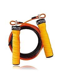 5BILLION - Cuerda de saltar de velocidad - Mango natural - Ajustable con rodamientos de bolas - Entrenamiento para doble calzoncillo, WOD, al aire libre, MMA y entrenamiento de boxeo