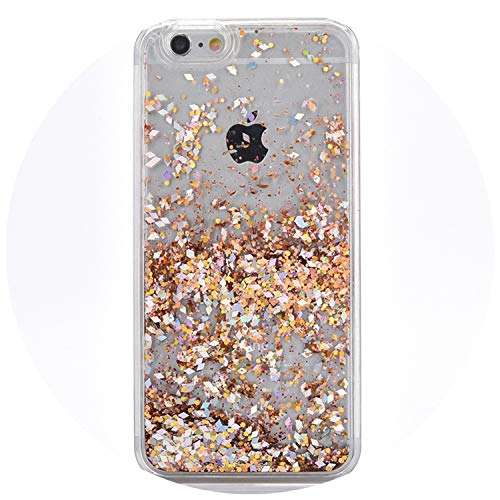 Flowing Water Liquid Case for iPhone X 4 4S 5 5S SE 6 7 8 6s Plus Diamond Quicksand Glitter Stars Phone Case for iPod iTouch 5 6,ling xing jin,iPod iTouch 5 6