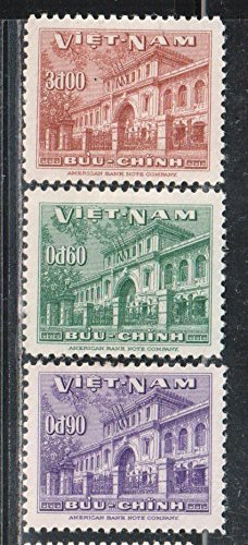 South Vietnam Stamps - 1956, Sc 36-8, Post Office, MNH, F-VF