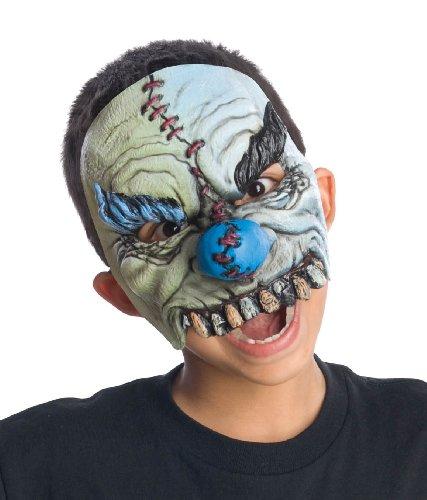 Plus Half Mask (Rubie's Half Smiles Chinless Clown Mask, Gray, One Size)