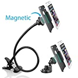 BESTEK 2 in 1 Magnetic Gooseneck Lazy Bracket Long Arms Clip Car Cell Phone Mount-Holder on Bed, Car, Desktop, Windshield Mount and Dashboard for iPhone 7, 7 Plus, Samsung Galaxy S7 Edge and More