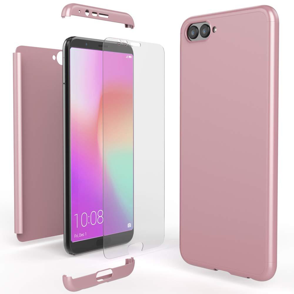 Phone Case Rigida Telefono Cellulare Protezione Bumper Sottile Colore:Blu NALIA Custodia Integrale compatibile con Huawei Honor View 10 Cover Protettiva Fronte e Retro /& Vetro Temperato