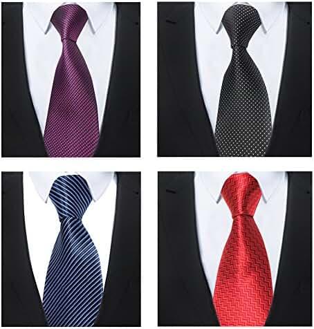 Classic Men's Tie Necktie Woven JACQUARD Neck Ties 4 PCS t-03