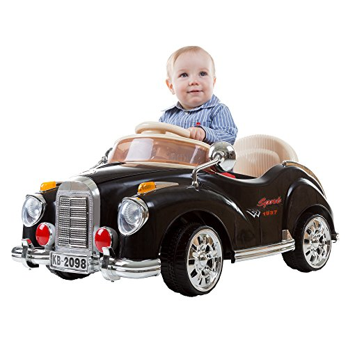 Ride On Toy Car, Battery Powered Classic Car Coupe With Remote Control and Sound by Lil' Rider  – Toys for Boys and Girls, 3 Year Olds And Up (Black)