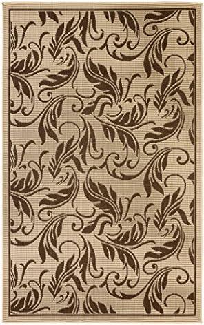 Mats Flatweave Indoor Outdoor Rugs with Contemporary Breeze Design Area Rugs Patio Rug Flooring Carpets 8×10 7 10 x9 10 , Dark Brown