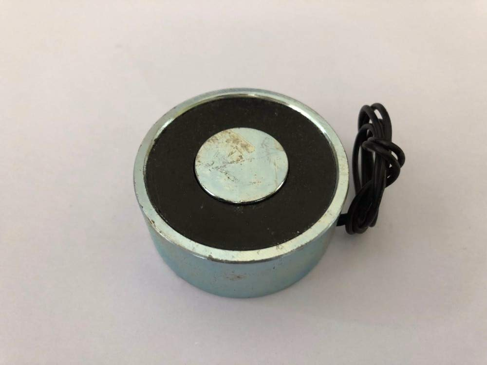 MAO YEYE Electromagnet Electric Lifting Magnet Solenoid Lift Holding 120kg DC 12V 24V 15W P100//40 Imanes De Neodimio Magnetic Materials