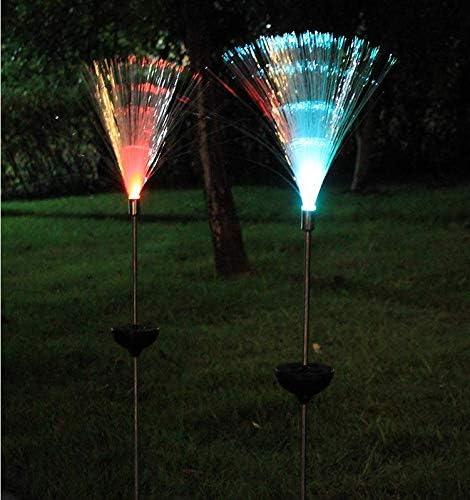 Solar cambio de colores luces de fibra óptica inserciones de ...