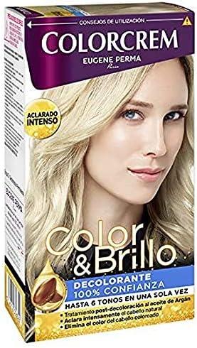 Decolarante - aclara hasta 6 tonos en una sola vez - con tratamiento post-decoloración al aceite de Argán | Elimina el color del cabello coloreado | ...