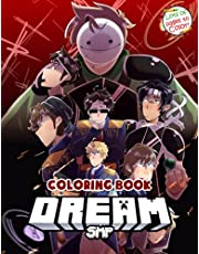Dream SMP Coloring Book: 50+ Coloring Pages Of The Members Of Dream SMP For All Ages, Great Book For Relaxation And Creativity