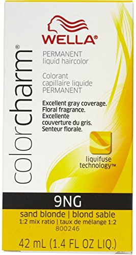 Wella Color Charm Liquid Haircolor 9NG Sand Blonde, 2 oz (Pack of 5)