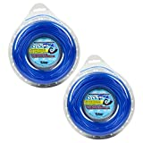 """Desert Extrusion Cyclone CY065D1/2 .065"""" x 300' Commercial Trimmer Line Blue [12/Case] (2-Pack)"""