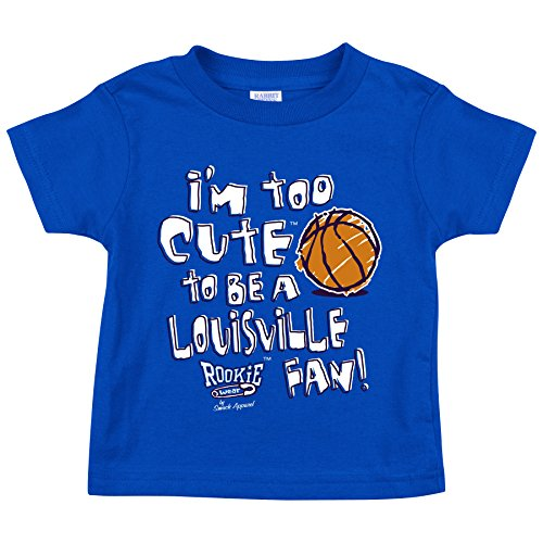 Kentucky Basketball Fans. Too Cute to be a Louisville Fan. Royal Toddler Tee (2T-4T) (4T).