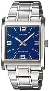 CASIO 19753 MTP-1337D-2A - Reloj Caballero cuarzo brazalete metálico dial azul