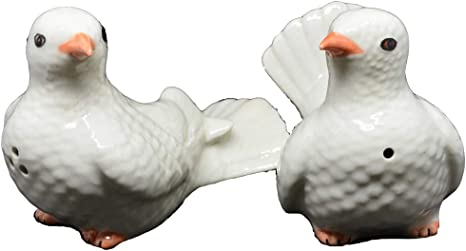 Ceramic Bird Figurine Salt and Pepper Shakers Vintage