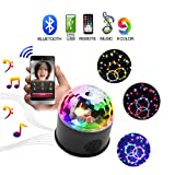 KOOT Disco Party Lights Sound Actived Disco Ball with Remote Control 9 Colors Bluetooth LED DJ Strobe Bar Club Stage Dance Light for Kid Room Party Wedding Birthday