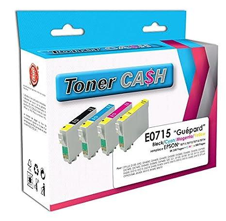 Lote de 4 cartuchos de tinta compatibles con impresoras Epson ...