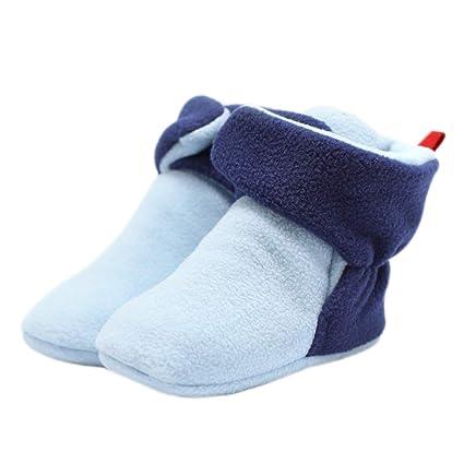 Primeros Pasos Zapatos de Bebés, HIFUAR Reborn Botas Zapatillas Antideslizante para Bebés Blanda Botas Calientes