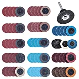 70Pcs Sanding Discs Set, 2 inch Roloc Quick Change Discs with 1/4 inch Holder, Surface Conditioning Discs for Die Grinder Surface Strip Grind Polish Burr Finish Rust Paint Removal(Updated)