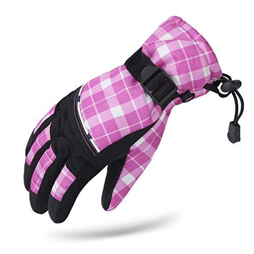 Amazon Lightning Deal 94% claimed: Pink Girls Kids Child Snow Ski Winter Warm Waterproof Gloves
