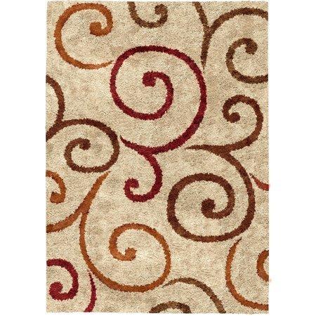 Swirl Garden - Better Homes and Gardens Swirls Soft Shag Area Rug or Runner (2' x 4')