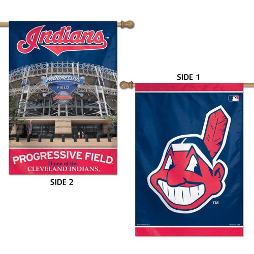 [MLB Cleveland Indians 2 Sided Vertical Flag, 28 x 40