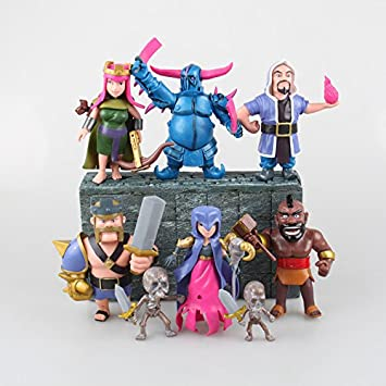 Figura de acción: Clash of Clans Pekka King Archer Wizard Witch Hog Rider Action Figure
