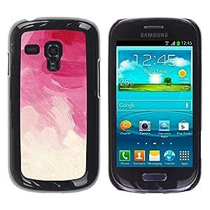 Be Good Phone Accessory // Dura Cáscara cubierta Protectora Caso Carcasa Funda de Protección para Samsung Galaxy S3 MINI NOT REGULAR! I8190 I8190N // Pink Brush Strokes Vignette Flor
