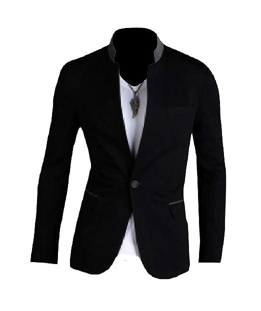 Amazon.com: Abetteric Blazer - Abrigo para hombre, diseño ...