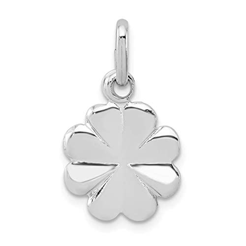 Ice Carats 925 Sterling Silver Clover Pendant Charm Necklace Good