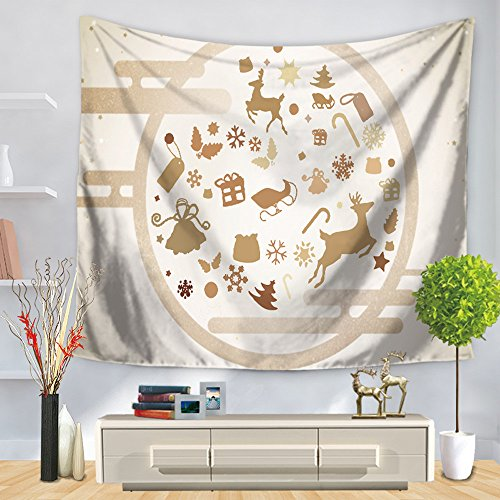 Weiliru Christmas Tapestry Wall Hanging Tree Wall Tapestry for Bedroom Living Room Dorm Party Wall -