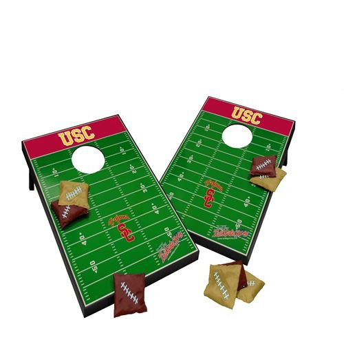 USC Trojans NCAA Wooden Cornhole Tailgate Toss Game Set, 2x3, MDF, All Weather, Lightweight, Portable, Includes 8 Bags by USC Trojans