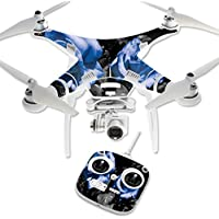Skin For DJI Phantom 3 Standard – Blue Roses | MightySkins Protective, Durable, and Unique Vinyl Decal wrap cover | Easy To Apply, Remove, and Change Styles | Made in the USA